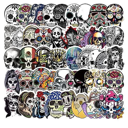 PMSMT 50pcs / Pack Symphony Horror Skull Pegatinas de Halloween Moda Graffiti para Maleta refrigerador Coche Scooter Juguetes geniales para niños