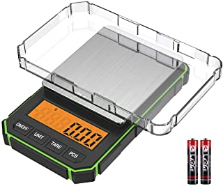Brifit Digital Mini Scale, 200g /0.01g Pocket Scale, 50g Calibration Weight, Electronic Smart Scale, 6 Units, LCD Backlit ...