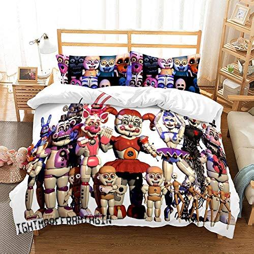 Rnvvaceo Cartoon anime character Comforter Set Full, 3 Piece Super Soft Microfiber Bedding Sets, All-Season Reversible Quilt Duvet for Children Boy Girl Teen Kids - Includes 1 Comforter, 2 Pillow Sh