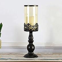 European Style Wrought Iron Glass Candle Holder-Multifunctional Metal Base Glass Flower Center Decoration, Birthday Weddin...