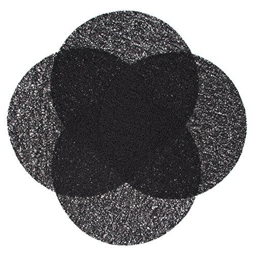 ZOLLNER 4er Set Tischset 38 cm, schwarz (weitere verfügbar), abwaschbar