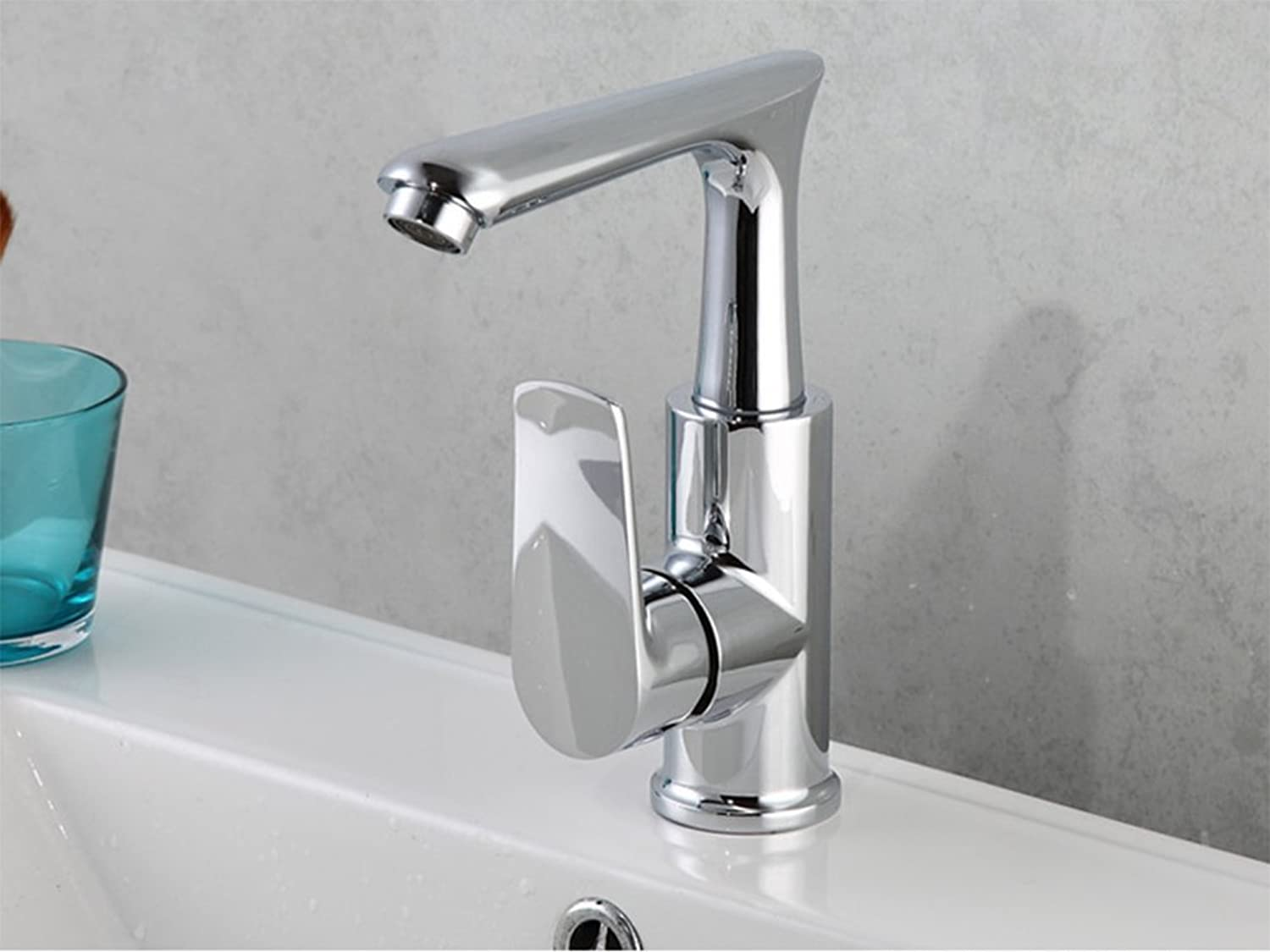 Bathroom washbasin Faucet, Copper hot and Cold Mixed Faucet, Sink Faucet