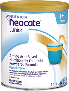 Neocate Junior, Unflavored, 14.1 oz / 400 g (Case of 4 cans)