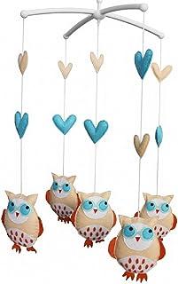 Lit bébé Hanging mobile de Bell Cartoon Owls musicale Lit mobile