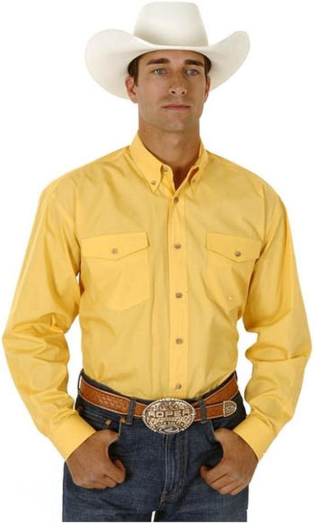 Roper Men's Solid Poplin Long Sleeve Western Shirt Big and Tall - 03-001-0665-0034 Br