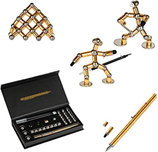 asuku Decompression Magnetic Pen, Magnets DIY Toys,Fidget Toys, Magnetic Sculpture Building Blocks, Desktop Sculpture Toys...