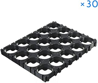 Loosnow 20/30/40/50 Pcs 4x5 Cell 18650 Batteries Spacer Holders Radiating Shell Plastic Bracket