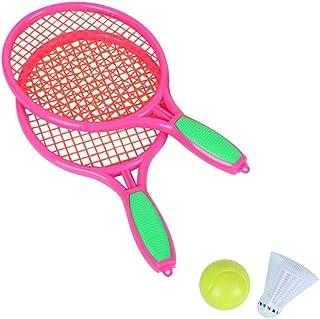 636eb3444 poetryer Set De Bádminton Juego De Bádminton para Niños Incluye 2 Pelotas Raquetas  Badminton Niños Raquetero