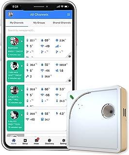 Ubibot WS1 wifi temperatuur vochtigheid monitor, draadloze thermometer hygrometer, wifi data logger met gratis app alarm, ...