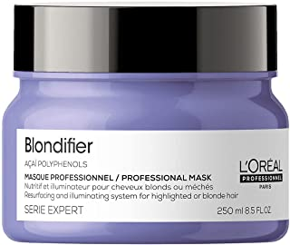 l'OREAL Professionnel Paris, Maschera professionale per capelli biondi Blondifier Serie Expert, Formula ricostituente e il...