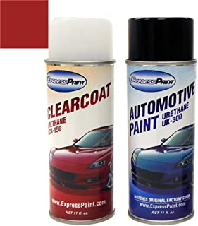 ExpressPaint Aerosol - Automotive Touch-up Paint for Honda Civic - Tango Red Pearl Metallic Clearcoat R-525P - Color + Clearcoat Package