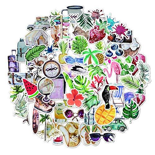 Wawale bloemenstickers voor planten, waterdichte stickers voor mobiele telefoon mok voor laptop (70 foto's)
