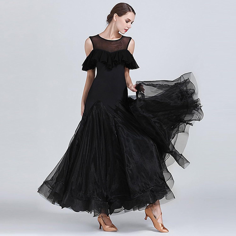 Modern Lady's Big Pendulum Dress Ballroom Dance Dress Costume Modern Dance Dress Dance Competition Performance Costume