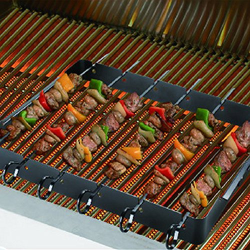 Shish Kebab Rack for Grills, BBQs and Ovens - Non Stick