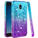 Ruky Galaxy J7 2018 Case,Galaxy J7 Refine Case,Galaxy J7 Star Case,J7 Crown Case,Galaxy J7 V J7V 2nd Gen Case,J7 Aura Case, Bling Diamond Glitter Liquid Case for Samsung Galaxy J7 2018, Aqua