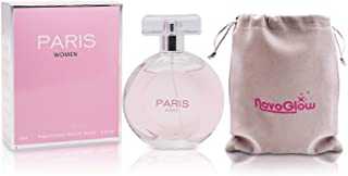 Paris Women- Eau De Parfum Spray Perfume, Fragrance For Women- Daywear, Casual Daily Cologne Set with Deluxe Suede Pouch- 3.4 Oz Bottle- Ideal EDP Beauty Gift for Birthday, Anniversary