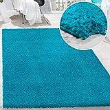shaggy - tappeto a pelo lungo in diversi colori e misure, dimensione:120x170 cm, colore:turchese