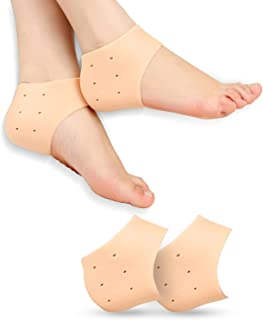 Shoppyana Silicone Gel Heel Pad Socks For Heel Swelling Pain Relief,Dry Hard Cracked Heels Repair Cream Foot Care Ankle Su...