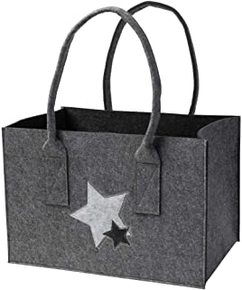 luxdag Einkaufstasche faltbar aus Filz (Größe & Motiv wählbar) - Einkaufskorb, Markttasche, Shopper mit Henkel - Tragetasc...