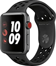 Apple Watch Series 3 Nike+ - GPS+Cellular - Space Gray Aluminum Case with Anthracite/Black Nike Sport Band - 42mm (Renewed)