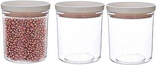 Pkfinrd 3pcs Stockage Alimentaire, réservoir de Stockage Réservoir de Stockage en Plastique Transparent avec Couvercle Cui...