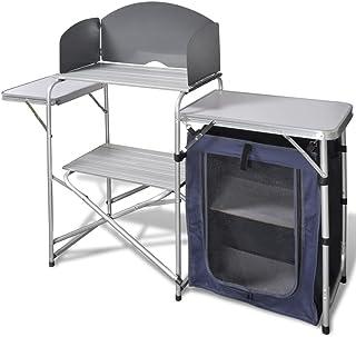 vidaXL Cocina de aluminio plegable para camping, con