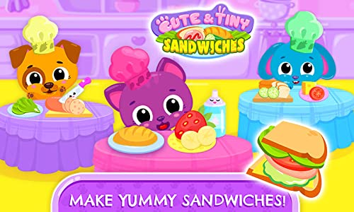 『Cute & Tiny Sandwiches - Quick Lunch For Baby Pets』の2枚目の画像