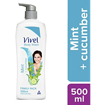 Vivel Body Wash, Mint and Cucumber, 500 ml