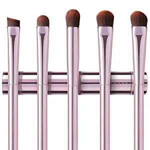 5Pcs Eyeshadow Brush Set, Premium Eyebrow Brush Eyeshadow Brush Concealer Brush Eye Blending Brush Eye Smudge Brush with Case, Pink Makeup Brushes for Travel