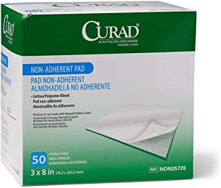 """پد غیر چسبنده Medline Curad، 3 """"x8"""" (بسته 50) - NON25720Z"""