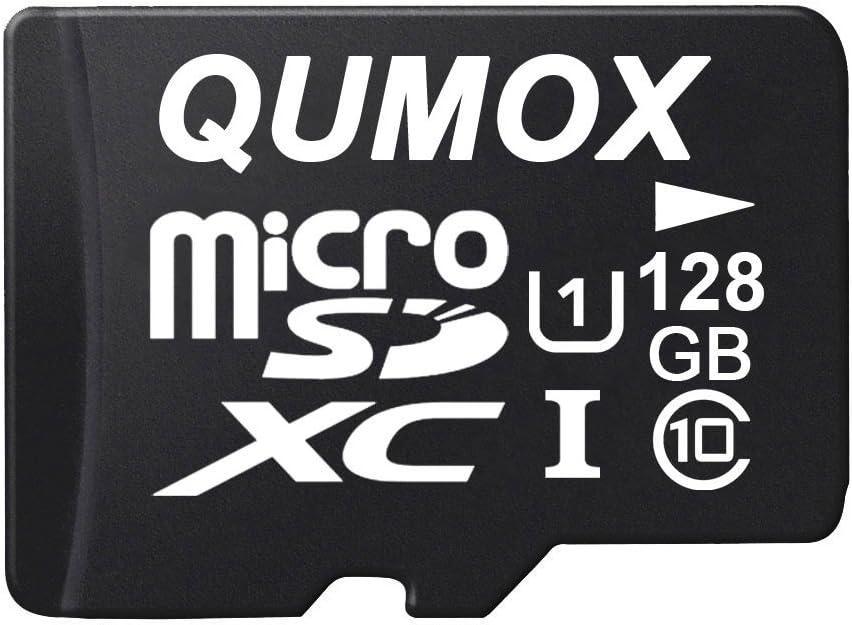 QUMOX 128GB Micro SD Memory Card Class 10 UHS-I 128 GB HighSpeed Write Speed 40MB/S Read Speed Upto 80MB/S