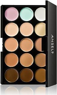 Anself 15 colores Paleta de correctores para cara ojos crema