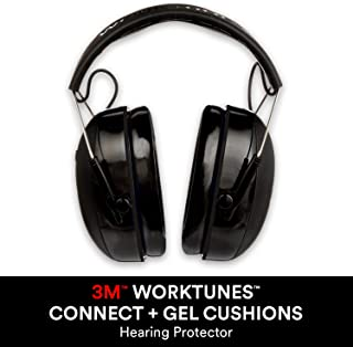 3M WorkTunes Connect + Comfortable Gel Filled Ear Pads...