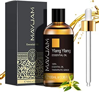 MAYJAM Huiles Essentielles YlangYlang 100 ml, 100% Naturelles Pures Huile Essentielle D'aromathérapie de Qualité Thérapeut...