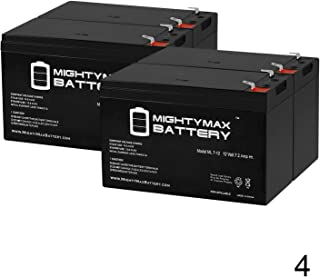 Mighty Max Battery ML7-12 - 12V 7.2AH Replacement UPS Battery for APC Back-UPS 550 BE550G - 4 Pack Brand Product