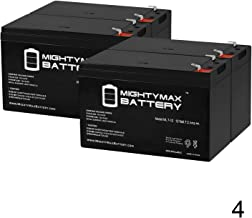 Mighty Max Battery 12V 7Ah Battery Replacement for APC Smart-UPS RM SUA1500RM2U - 4 Pack Brand Product