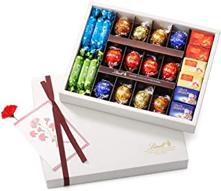 リンツ (Lindt) チョコレート母の日ギフトピック&ミックスギフトコレクションAショッピングバッグM付...