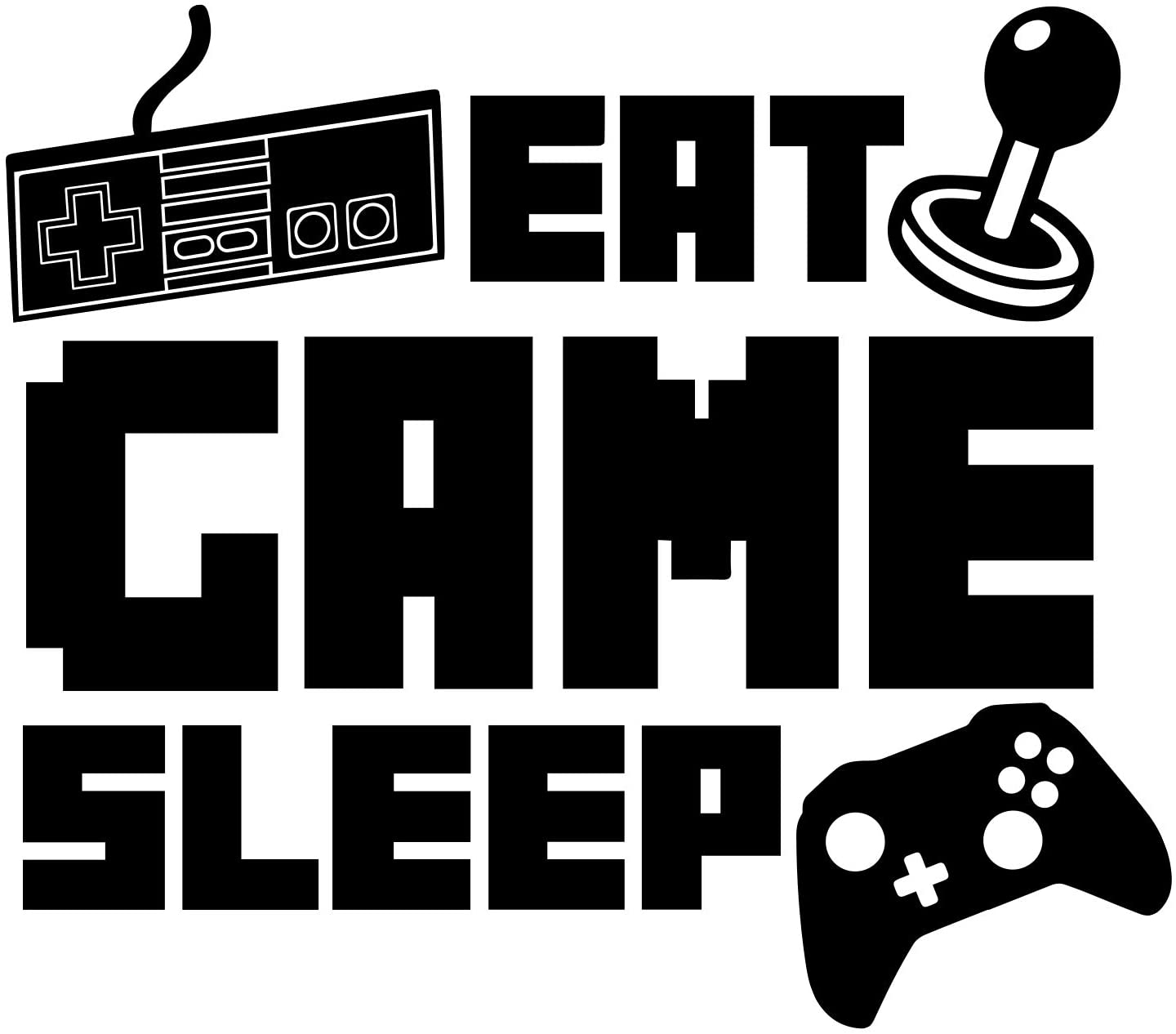 Eat Sleep Game Wall Decal Recommended National products Video Boy Vinyl G Sticker Gamer