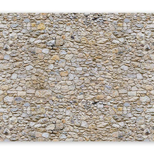 murando Fototapete 350x256 cm Vlies Tapeten Wandtapete XXL Moderne Wanddeko Design Wand Dekoration Wohnzimmer Schlafzimmer Büro Flur Steine Mauer f-B-0001-a-a