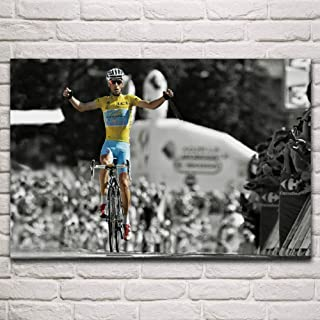CNHNWJ Competencia Deportiva Victoria bikecycle Race ni Bali Tour Living Room Home Wall Art Decor Marco de Madera póster d...