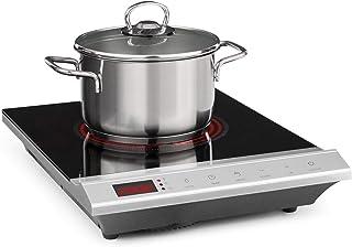 Klarstein Mistercook Plaque de cuisson infrarouge - vitrocéramique, 2000W, 8 réglages de puissance et de température, écra...