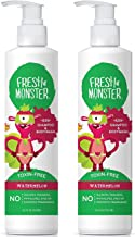 Fresh Monster Toxin-Free Hypoallergenic 2-in-1 Kids Shampoo & Body Wash, Watermelon, 8.5oz, Pack Of 2