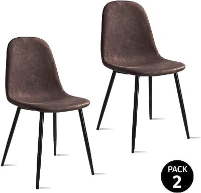 Mc Haus Gris Perla Pack 2 sillas ELVA diseño nordico para ...
