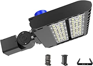Led Parking Lot Lighting 150 Watt, Adiding Street Area Shoebox Pole Light with Photocell Sensor 3-Type Mountings Lumileds LED 130Lm/W Daylight 5700K Bright White Light Shorting Circuit Cap IP66 UL DLC