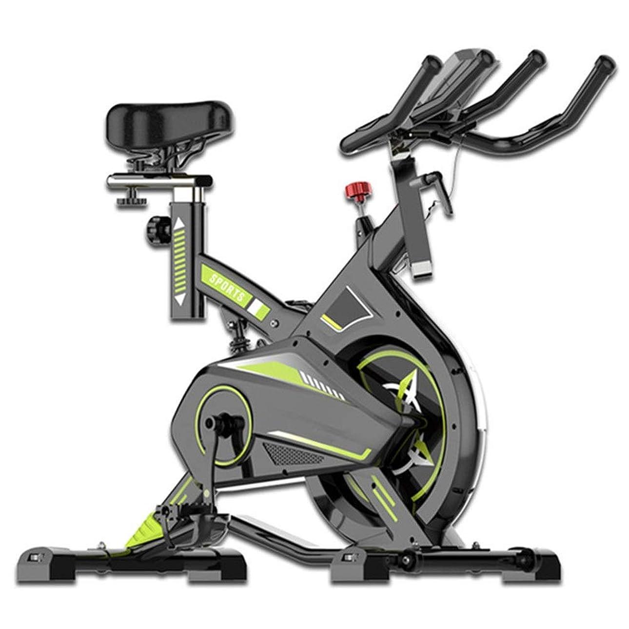 と組むジェット愛情室内自転車 フィットネスバイク フィットネスカーディオ減量ワークアウトマシンでミュートトレーニングコンピュータと楕円クロストレーナー エアロフィットネス バイク (色 : 緑, サイズ : Free Size)