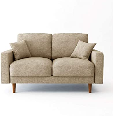 Danube Home Kristen 2 Seater Fabric Sofa - Beige