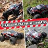 Remote Control Cars, Terrain RC Car, Electric Remote Control Off Road Monster Truck,1:18 Scale 2.4Ghz Radio 4WD Fast 30+ MPH RC Truck, with 2 Rechargeable Batteries, Toys Gift for Kids, Boys &Adults #1