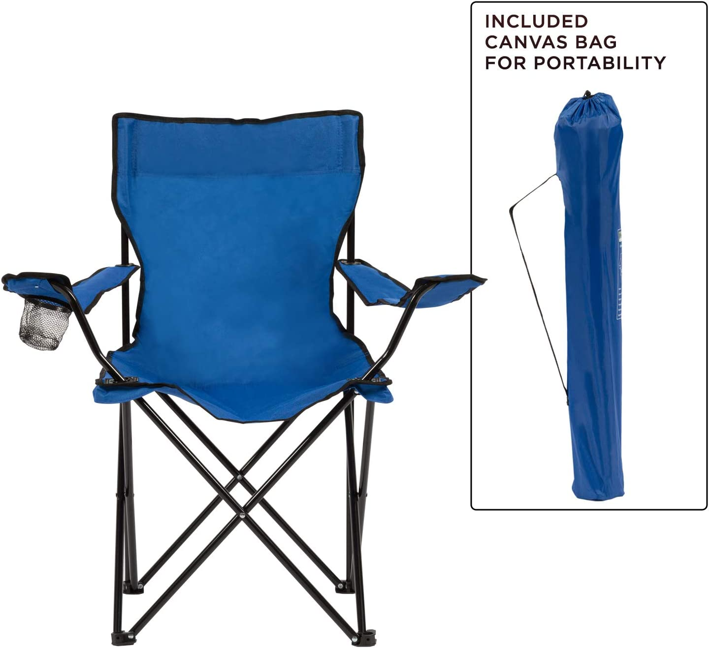 Grey, 2 Pack Homewell Portable Folding Chair for Outdoor Beach and Camping