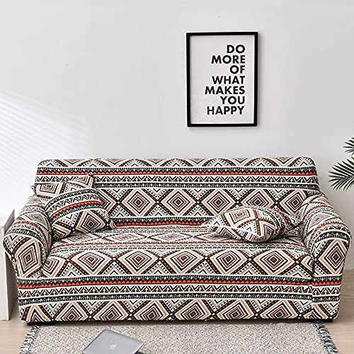 WXQY Fundas de Tela Escocesa elásticas Antideslizantes para sofá Funda de sofá para Mascotas Esquina en Forma de L Funda de sofá Antideslizante A24 de 3 plazas