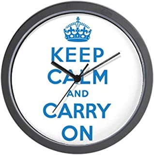 CafePress Keep Calm and Carry On Wall Clock Unique Decorative 10